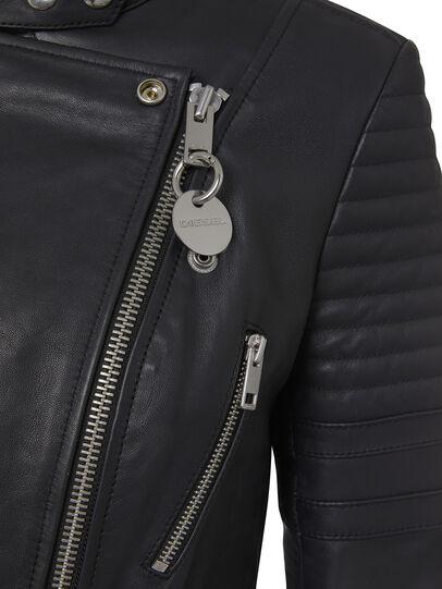 Diesel - L-IGE-NEW, Black - Leather jackets - Image 4