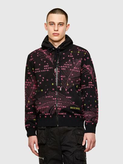 Diesel - K-OREGON, Black/Pink - Knitwear - Image 1