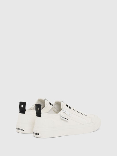 Diesel - S-ASTICO LOW ZIP W, White - Sneakers - Image 3