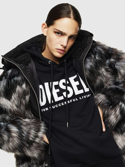 Diesel - L-ALYA, Black - Leather jackets - Image 4