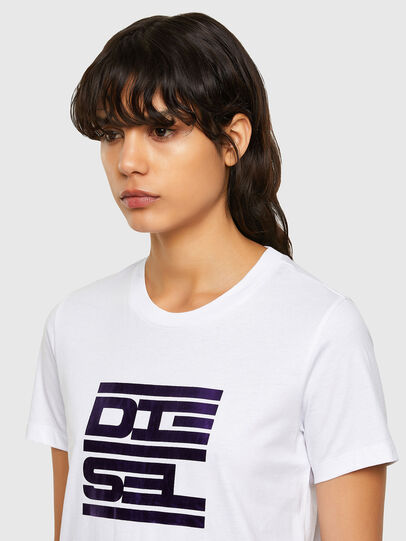 Diesel - T-SILY-K5, White - T-Shirts - Image 3