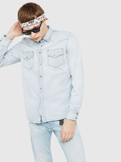 Diesel - D-EAST-P, Blue Jeans - Denim Shirts - Image 1
