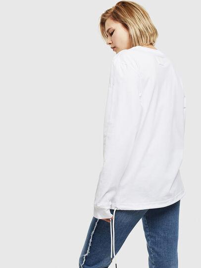 Diesel - T-HUSTY-LS, White - T-Shirts - Image 4