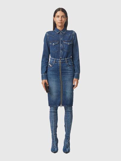 Diesel - DE-PENCIL-ZIP, Medium blue - Skirts - Image 5