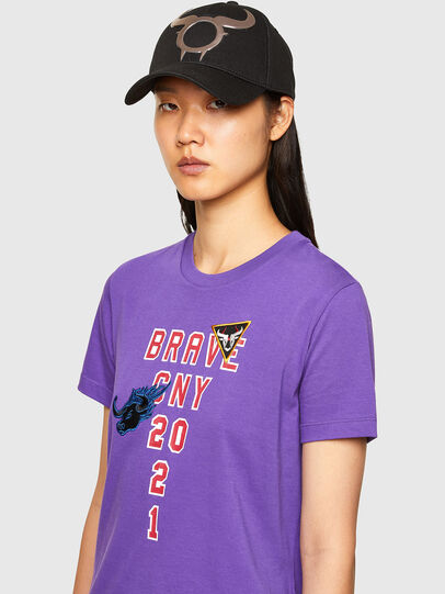 Diesel - CL-T-SILY-O, Violet - T-Shirts - Image 4