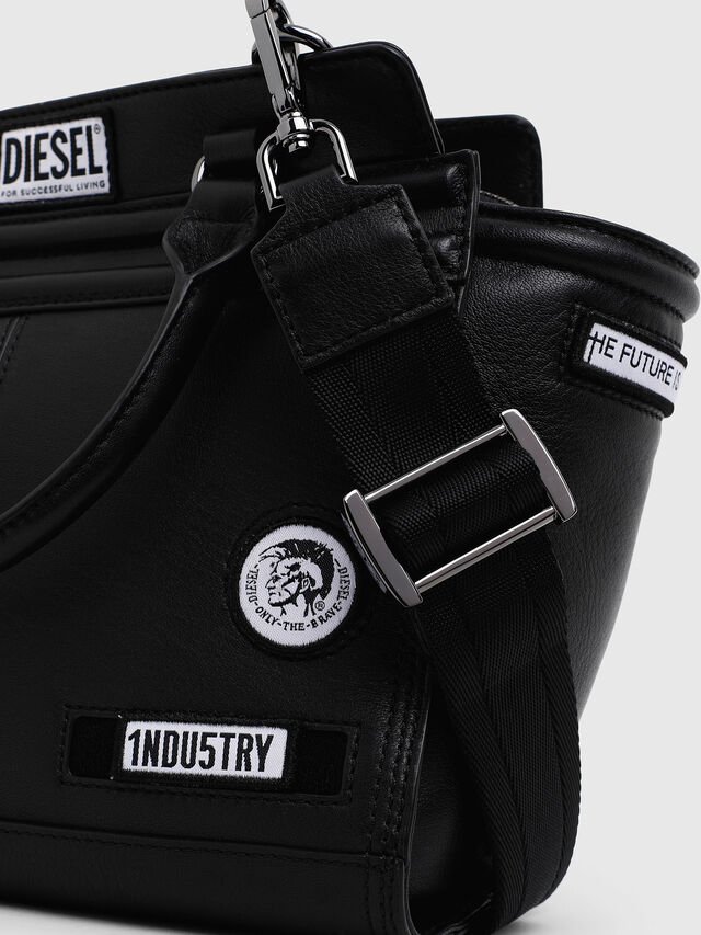Diesel - LE-ZIPPER SATCHEL S, Black - Shopping and Shoulder Bags - Image 3