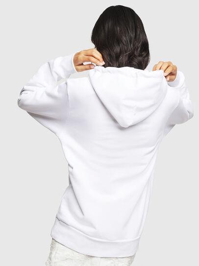 Diesel - F-GIR-HOOD-DIV-LOGO-, White - Sweaters - Image 2