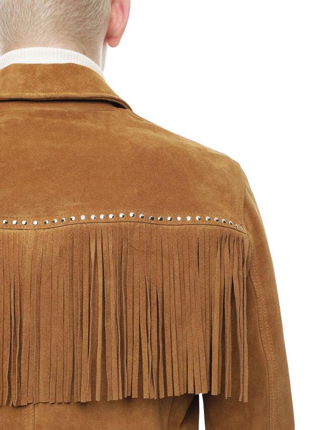 Diesel - LEOS, Brown/Beige - Leather jackets - Image 4