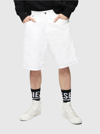 Diesel - D-WILLOH, White - Shorts - Image 1