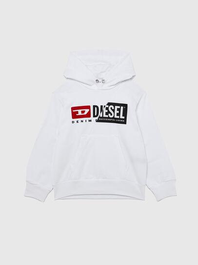Diesel - SGIRKHOODCUTY OVER, White - Sweaters - Image 1