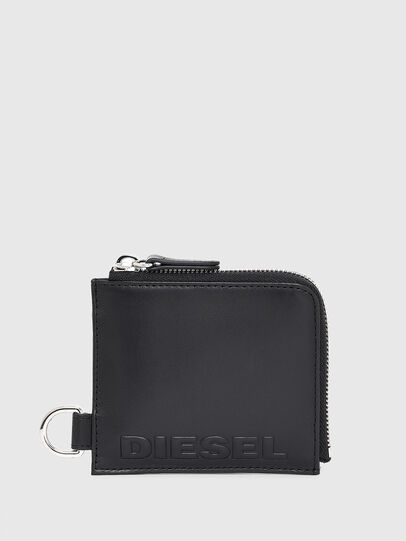 Diesel - L-ZIP CHAIN, Black - Zip-Round Wallets - Image 1