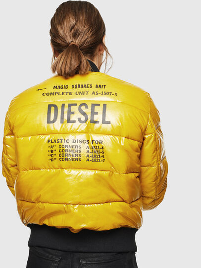 Diesel - W-ONY, Yellow - Winter Jackets - Image 2