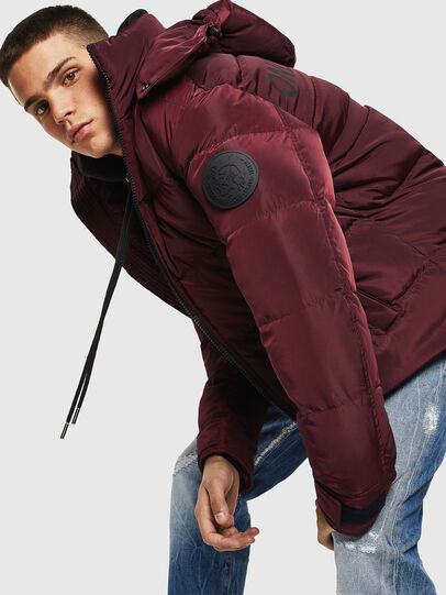 Diesel - W-SMITH-YA, Bordeaux - Winter Jackets - Image 4