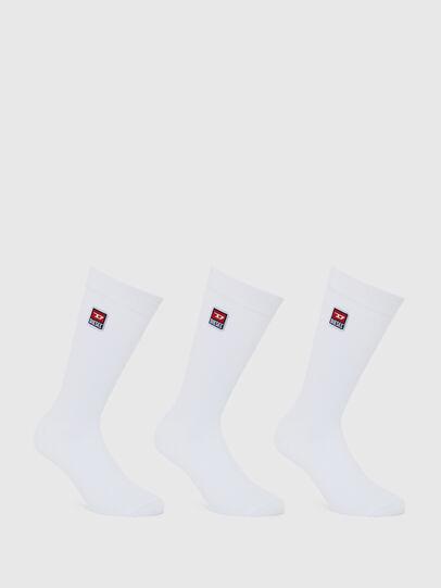 Diesel - SKM-RAY-THREEPACK, White - Socks - Image 1