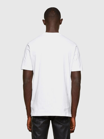 Diesel - T-JUST-SLITS-A30, White - T-Shirts - Image 2