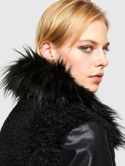 Diesel - L-LEDA, Black - Leather jackets - Image 4