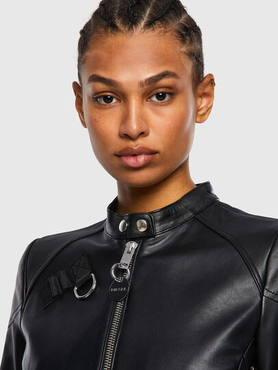 Diesel - L-SUZA, Black - Leather jackets - Image 3
