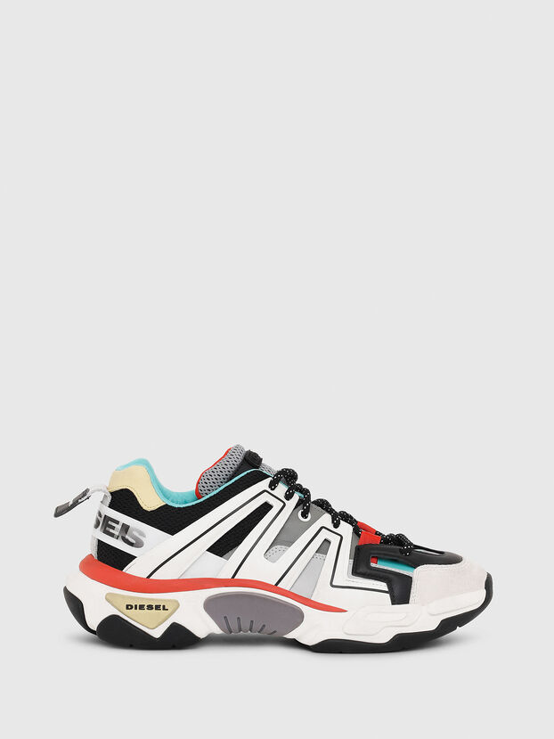 S-KIPPER LOW TREK, White/Black - Sneakers