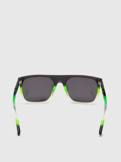 Diesel - DL0299, Black/Green - Sunglasses - Image 4