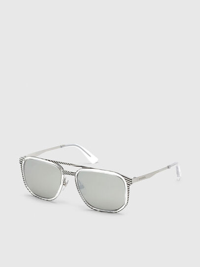 Diesel - DL0294, White/Black - Sunglasses - Image 2