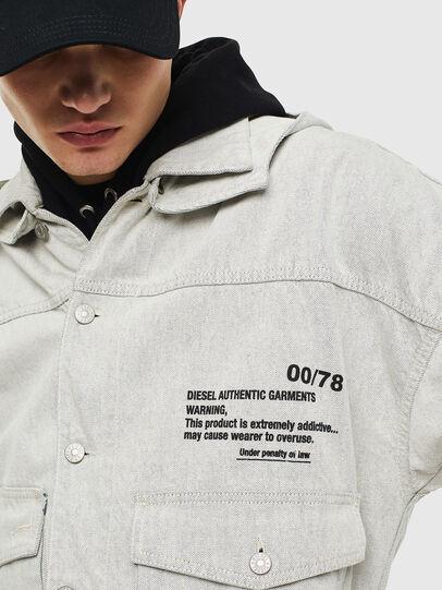 Diesel - D-EDDY, White - Denim Jackets - Image 3