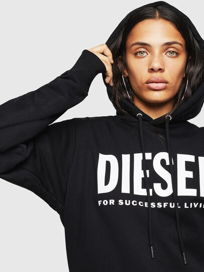 Diesel - F-GIR-HOOD-DIV-LOGO-, Black - Sweaters - Image 5