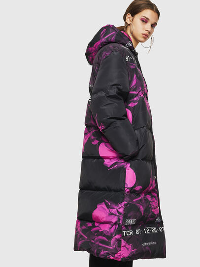 Diesel - W-DORYN-B, Black/Pink - Winter Jackets - Image 4