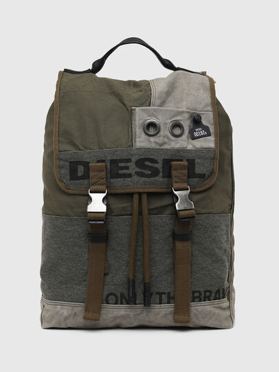 Diesel - VOLPAGO BACK ARMY, Olive Green - Backpacks - Image 1