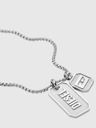 Diesel - DX1259, Silver - Necklaces - Image 2