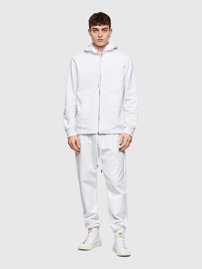 Diesel - S-GIRK-HOOD-ZIP-COPY, White - Sweaters - Image 4