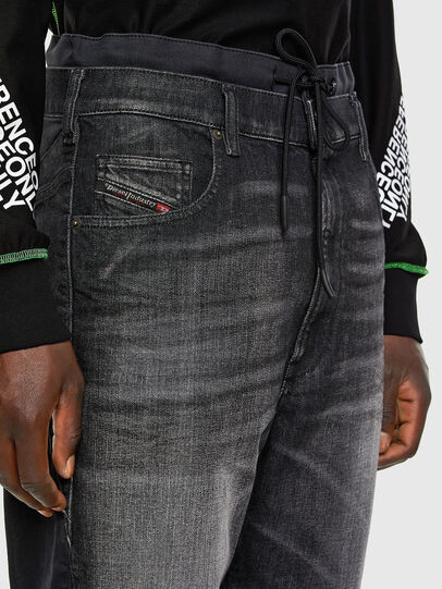 Diesel - D-Skint JoggJeans 069PC, Black/Dark grey - Jeans - Image 3