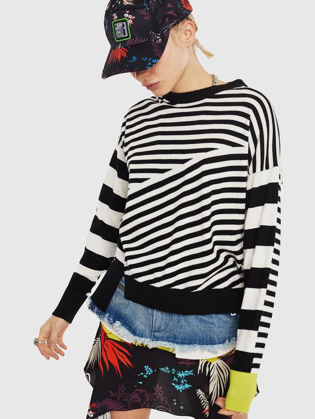 Diesel - M-LISY, Black/White - Knitwear - Image 1