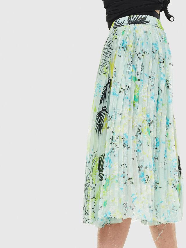 Diesel - O-PLIZ, Water Green - Skirts - Image 3