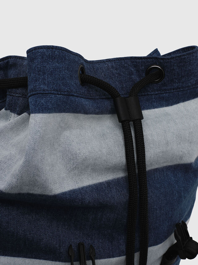 Diesel - VOLPAGO BACK, Blue Jeans - Backpacks - Image 3