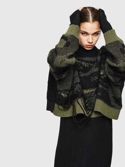 Diesel - M-KAM, Black/Green - Knitwear - Image 4