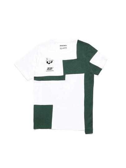 Diesel - D-FRANKENSTEIN 2.1, White/Green - T-Shirts - Image 2