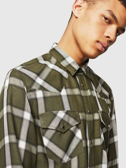Diesel - S-EAST-LONG-XA, Dark Green - Shirts - Image 3