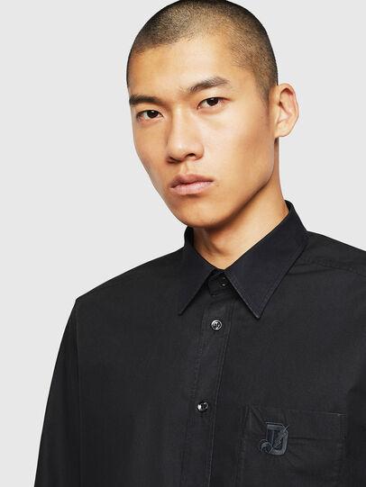 Diesel - S-MOI-R-BW, Black - Shirts - Image 3