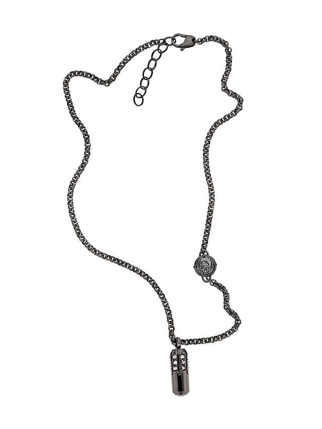 Diesel - NECKLACE DX1026, Dark Grey - Necklaces - Image 1