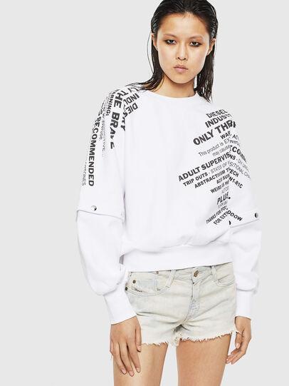 Diesel - F-AYALA, White - Sweaters - Image 1