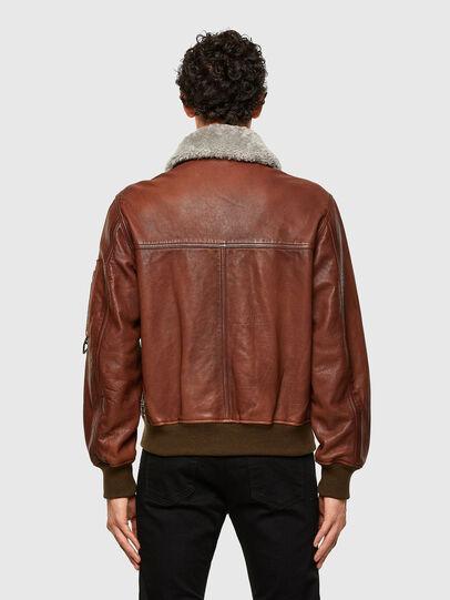 Diesel - L-STEPHEN, Brown - Leather jackets - Image 2