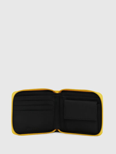 Diesel - ZIPPY HIRESH S, Yellow - Zip-Round Wallets - Image 3