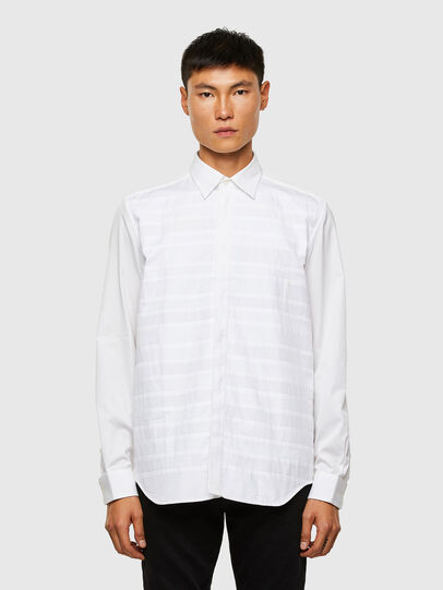 Diesel - S-WEIR, White - Shirts - Image 1