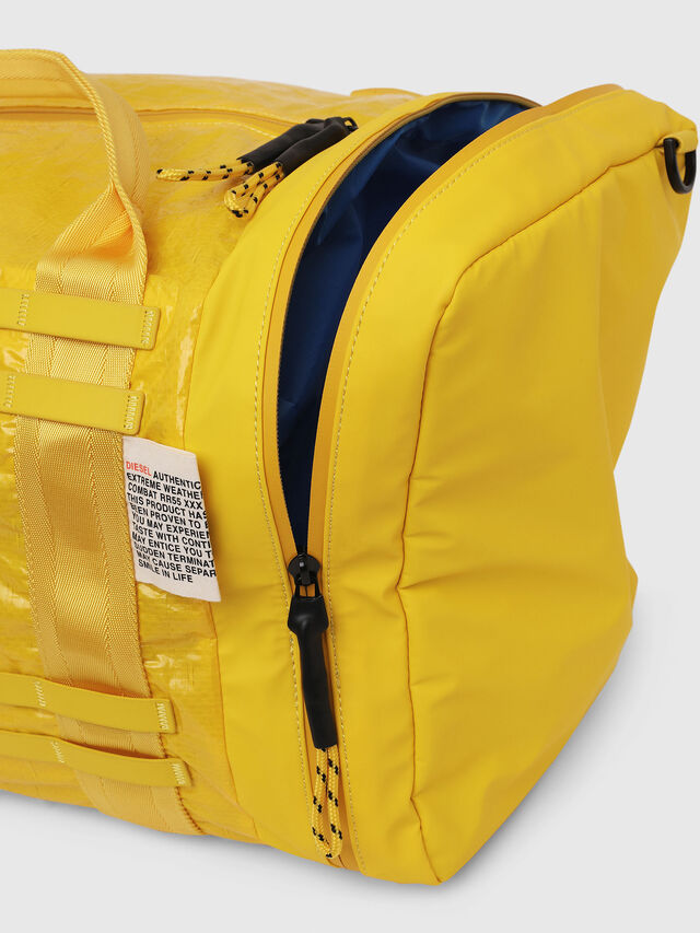 Diesel - M-CAGE DUFFLE M, Yellow - Travel Bags - Image 5