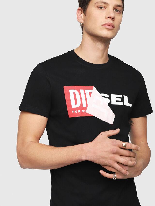 Diesel - T-DIEGO-QA, Black - T-Shirts - Image 3