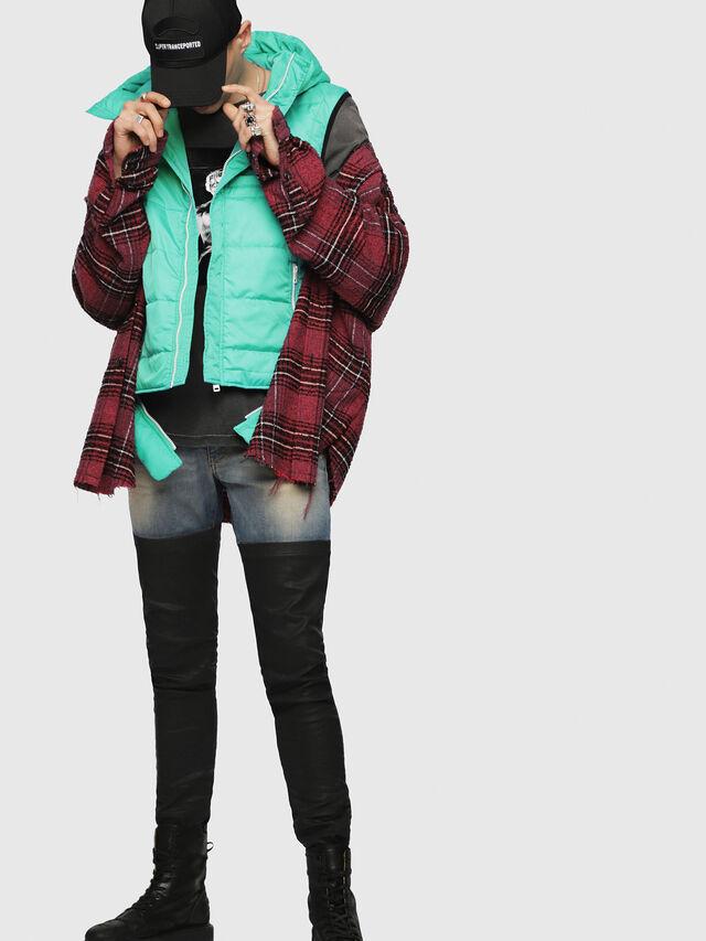 Diesel - W-SUN-REV-SLESS, Water Green - Winter Jackets - Image 4