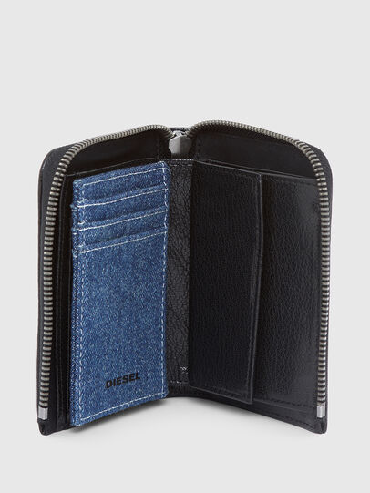 Diesel - L-12 ZIP, Black/Blue - Zip-Round Wallets - Image 3