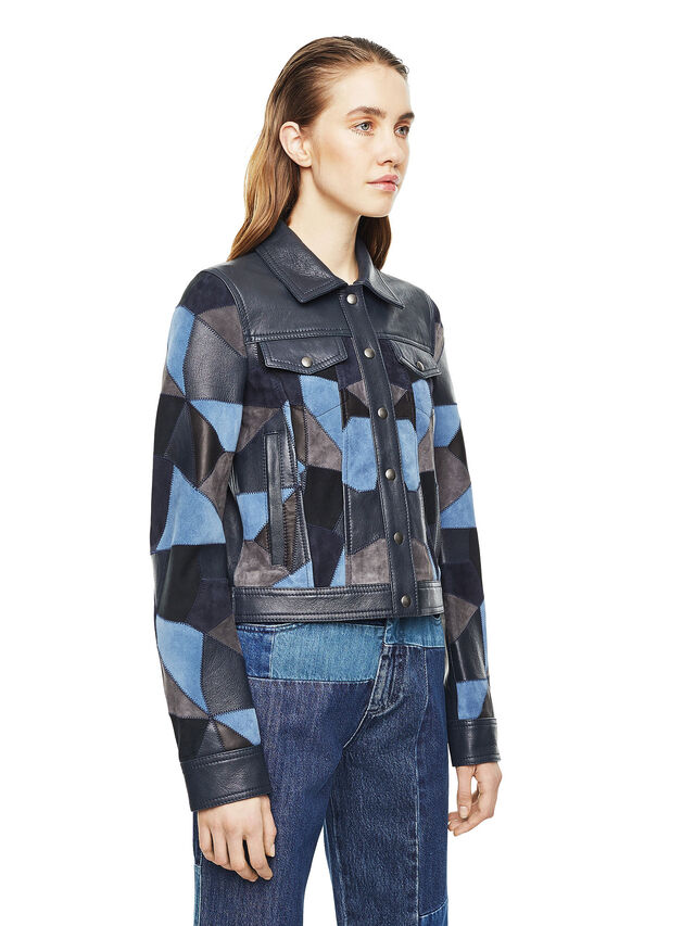 Diesel - LATCHY, Blue - Leather jackets - Image 6