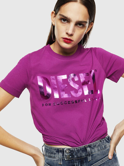 Diesel - T-SILY-WX, Violet - T-Shirts - Image 4