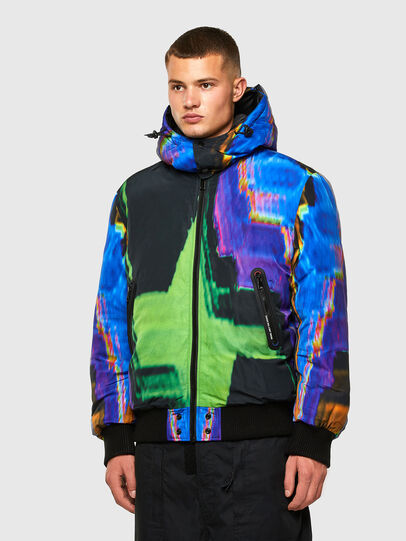 Diesel - W-ON-AOP, Blue/Green - Winter Jackets - Image 3